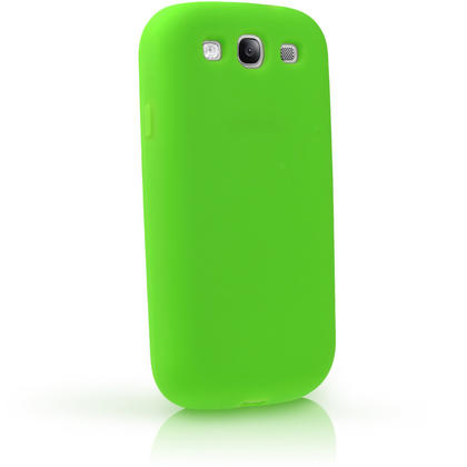 iGadgitz Green Silicone Skin Case Cover for Samsung Galaxy S3 III i9300 + Screen Protector Thumbnail 3