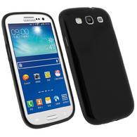 iGadgitz Black Glossy Gel Case for Samsung Galaxy S3 III i9300 + Screen Protector