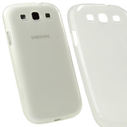 iGadgitz Clear Glossy Gel Case for Samsung Galaxy S3 III i9300 + Screen Protector Thumbnail 1