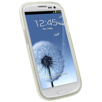 iGadgitz Clear Glossy Gel Case for Samsung Galaxy S3 III i9300 + Screen Protector Thumbnail 2