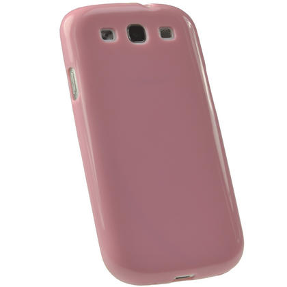 iGadgitz Pink Glossy Gel Case for Samsung Galaxy S3 III i9300 + Screen Protector Thumbnail 3