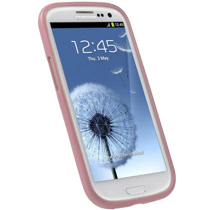 iGadgitz Pink Glossy Gel Case for Samsung Galaxy S3 III i9300 + Screen Protector Thumbnail 2