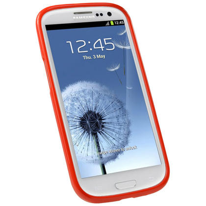 iGadgitz Red Glossy Gel Case for Samsung Galaxy S3 III i9300 + Screen Protector Thumbnail 2