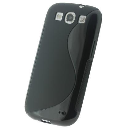 iGadgitz Dual Tone Black Gel Case for Samsung Galaxy S3 III i9300 + Screen Protector Thumbnail 2