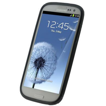 iGadgitz Dual Tone Black Gel Case for Samsung Galaxy S3 III i9300 + Screen Protector Thumbnail 3