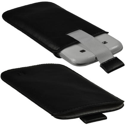 iGadgitz Black Leather Pouch Case Cover for Samsung Galaxy S3 III i9300 Android Smartphone Mobile Phone Thumbnail 2