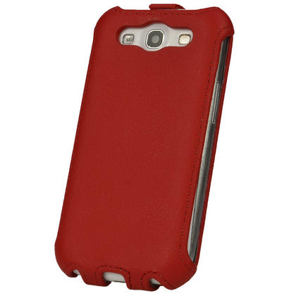 iGadgitz Red PU Leather Flip Case Cover Holder for Samsung Galaxy S3 III i9300 Android Smartphone Mobile Phone Thumbnail 5