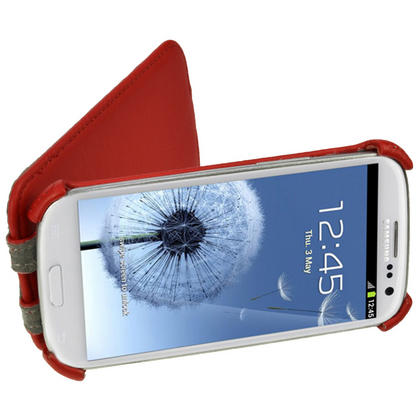 iGadgitz Red PU Leather Flip Case Cover Holder for Samsung Galaxy S3 III i9300 Android Smartphone Mobile Phone Thumbnail 6