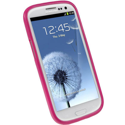 iGadgitz Hot Pink Glossy Gel Case for Samsung Galaxy S3 III i9300 + Screen Protector Thumbnail 2