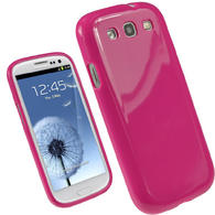 iGadgitz Hot Pink Glossy Gel Case for Samsung Galaxy S3 III i9300 + Screen Protector