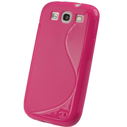 iGadgitz Dual Tone Hot Pink Gel Case for Samsung Galaxy S3 III i9300 + Screen Protector Thumbnail 3