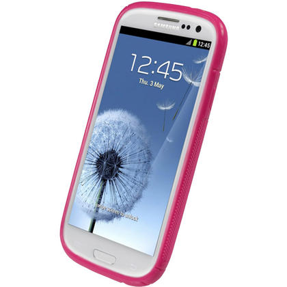 iGadgitz Dual Tone Hot Pink Gel Case for Samsung Galaxy S3 III i9300 + Screen Protector Thumbnail 2