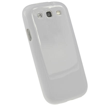 iGadgitz White Glossy Gel Case for Samsung Galaxy S3 III i9300 + Screen Protector Thumbnail 3