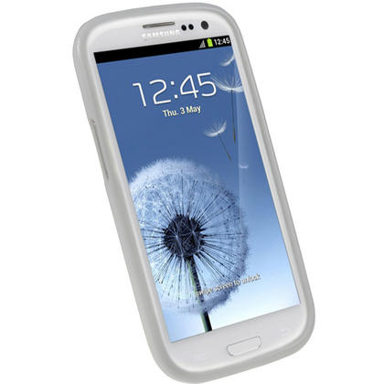 iGadgitz White Glossy Gel Case for Samsung Galaxy S3 III i9300 + Screen Protector Thumbnail 2