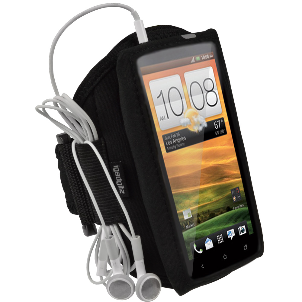 iGadgitz Water Resistant Neoprene Sports Armband for HTC One X S720e & HTC One X+ Plus (NOT Suitable For HTC ONE M7)