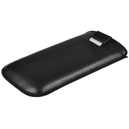 iGadgitz Black Leather Pouch Case Cover for HTC One X S720e & HTC One X+ Plus (NOT Suitable For HTC ONE M7) Thumbnail 3