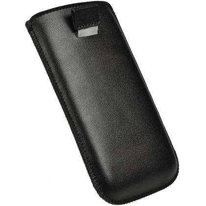iGadgitz Black Leather Pouch Case Cover for HTC One X S720e & HTC One X+ Plus (NOT Suitable For HTC ONE M7) Thumbnail 4