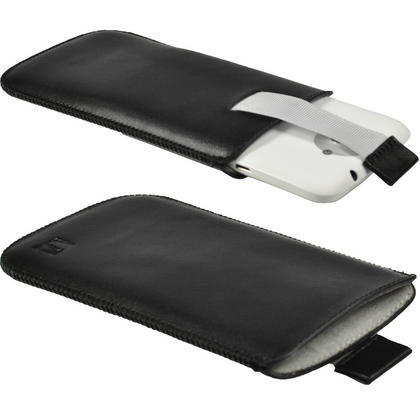 iGadgitz Black Leather Pouch Case Cover for HTC One X S720e & HTC One X+ Plus (NOT Suitable For HTC ONE M7) Thumbnail 1