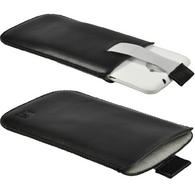 iGadgitz Black Leather Pouch Case Cover for HTC One X S720e & HTC One X+ Plus (NOT Suitable For HTC ONE M7)