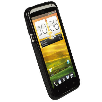 iGadgitz Dual Tone Black Gel Case for HTC One X S720e & HTC One X+ Plus + Screen Protector (NOT Suitable For HTC ONE M7) Thumbnail 2