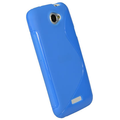 iGadgitz Dual Tone Blue Gel Case for HTC One X & HTC One X+ Plus S720e + Screen Protector (NOT Suitable For HTC ONE M7) Thumbnail 3