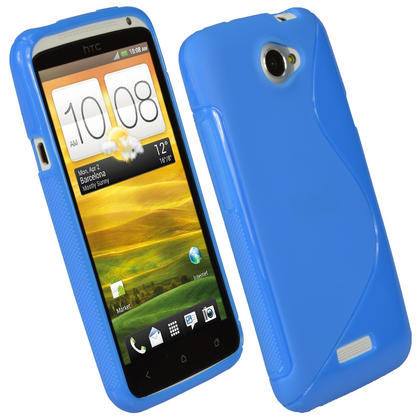 iGadgitz Dual Tone Blue Gel Case for HTC One X & HTC One X+ Plus S720e + Screen Protector (NOT Suitable For HTC ONE M7) Thumbnail 1