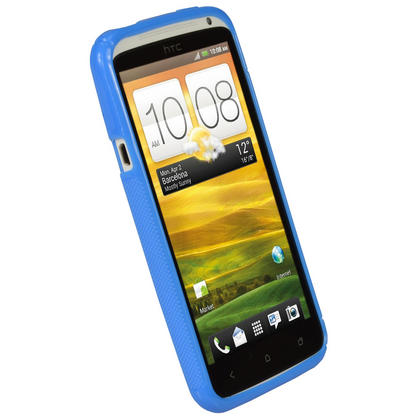 iGadgitz Dual Tone Blue Gel Case for HTC One X & HTC One X+ Plus S720e + Screen Protector (NOT Suitable For HTC ONE M7) Thumbnail 2