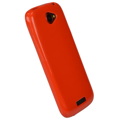 iGadgitz Red Glossy Gel Case for HTC One S + Screen Protector Thumbnail 2
