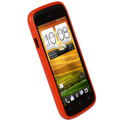 iGadgitz Red Glossy Gel Case for HTC One S + Screen Protector Thumbnail 3