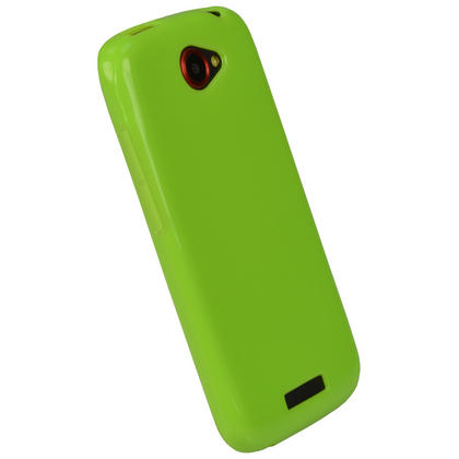 iGadgitz Green Glossy Gel Case for HTC One S + Screen Protector Thumbnail 2