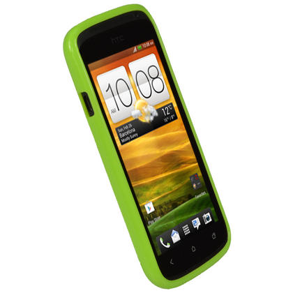 iGadgitz Green Glossy Gel Case for HTC One S + Screen Protector Thumbnail 3