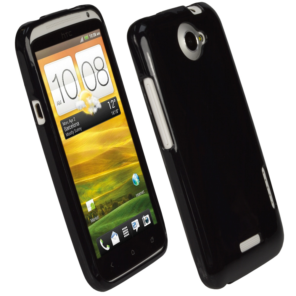 iGadgitz Black Glossy Gel Case for HTC One X & HTC One X+ Plus S720e + Screen Protector (NOT Suitable For HTC ONE M7)