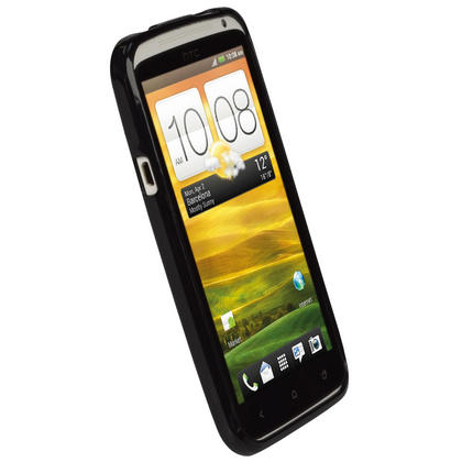 iGadgitz Black Glossy Gel Case for HTC One X & HTC One X+ Plus S720e + Screen Protector (NOT Suitable For HTC ONE M7) Thumbnail 2