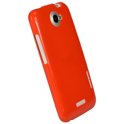 iGadgitz Red Glossy Gel Case for HTC One X S720e & HTC One X+ Plus + Screen Protector (NOT Suitable For HTC ONE M7) Thumbnail 3