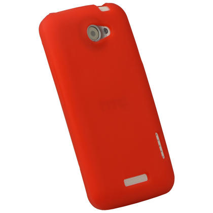 iGadgitz Red Silicone Skin Case for HTC One X S720e & HTC One X+ Plus + Screen Protector (NOT Suitable For HTC ONE M7) Thumbnail 2