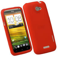 iGadgitz Red Silicone Skin Case for HTC One X S720e & HTC One X+ Plus + Screen Protector (NOT Suitable For HTC ONE M7)