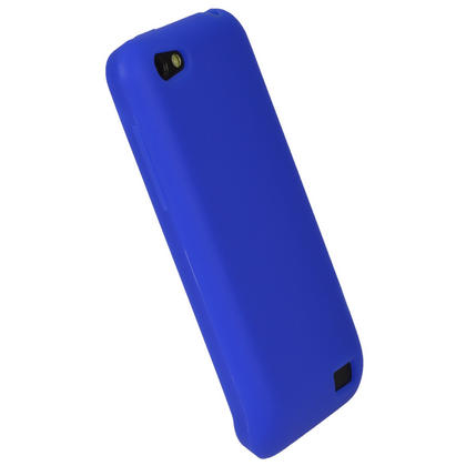 iGadgitz Blue Silicone Skin Case Cover for HTC One V Primo T320e Android Smartphone Mobile Phone + Screen Protector Thumbnail 3