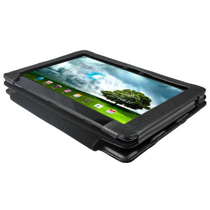 """iGadgitz Black 'Guardian' PU Leather Case Cover for Asus Eee Pad Transformer & Keyboard Dock TF300 TF300T 10.1"""" Tablet Thumbnail 4"""