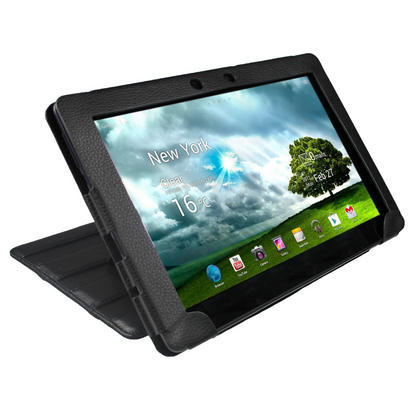 """iGadgitz Black 'Guardian' PU Leather Case Cover for Asus Eee Pad Transformer & Keyboard Dock TF300 TF300T 10.1"""" Tablet Thumbnail 8"""