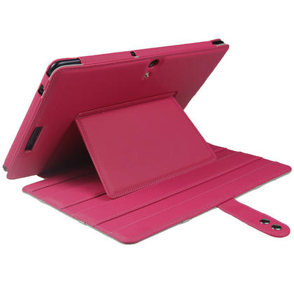 "iGadgitz Pink 'Guardian' PU Leather Case Cover for Asus Eee Pad Transformer & Keyboard Dock TF300 TF300T 10.1"" Tablet Thumbnail 7"