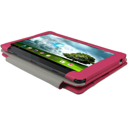 "iGadgitz Pink 'Guardian' PU Leather Case Cover for Asus Eee Pad Transformer & Keyboard Dock TF300 TF300T 10.1"" Tablet Thumbnail 4"