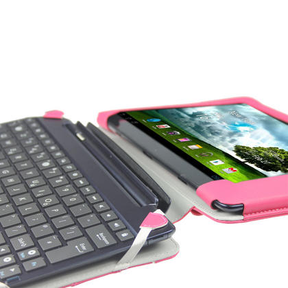"iGadgitz Pink 'Guardian' PU Leather Case Cover for Asus Eee Pad Transformer & Keyboard Dock TF300 TF300T 10.1"" Tablet Thumbnail 6"