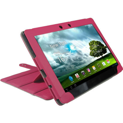 "iGadgitz Pink 'Guardian' PU Leather Case Cover for Asus Eee Pad Transformer & Keyboard Dock TF300 TF300T 10.1"" Tablet Thumbnail 8"