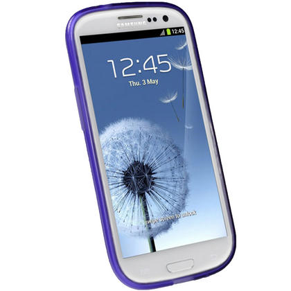 iGadgitz Butterfly Purple Gel Case for Samsung Galaxy S3 III i9300 + Screen Protector Thumbnail 2
