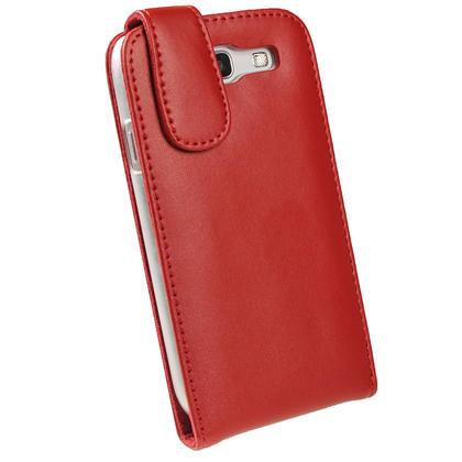 iGadgitz Red Leather Case Cover Holder for Samsung Galaxy S3 III i9300 + Screen Protector Thumbnail 3