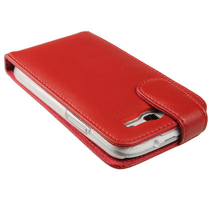 iGadgitz Red Leather Case Cover Holder for Samsung Galaxy S3 III i9300 + Screen Protector Thumbnail 5