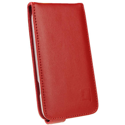 iGadgitz Red Leather Case Cover Holder for Samsung Galaxy S3 III i9300 + Screen Protector Thumbnail 2