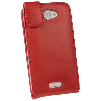 iGadgitz Red Leather Case for HTC One X S720e & HTC One X+ Plus + Screen Protector (NOT Suitable For HTC ONE M7) Thumbnail 3