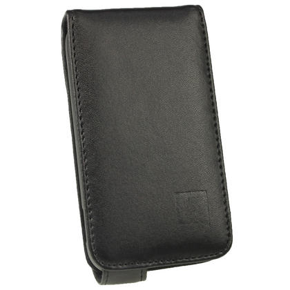 iGadgitz Black Leather Case Cover Holder for Samsung Galaxy Ace Plus + S7500 + Screen Protector Thumbnail 2