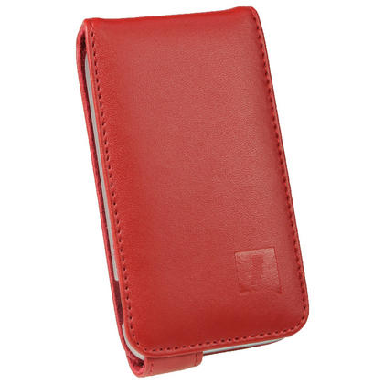 iGadgitz Red Leather Case Cover Holder for Samsung Galaxy Ace Plus + S7500 + Screen Protector Thumbnail 2